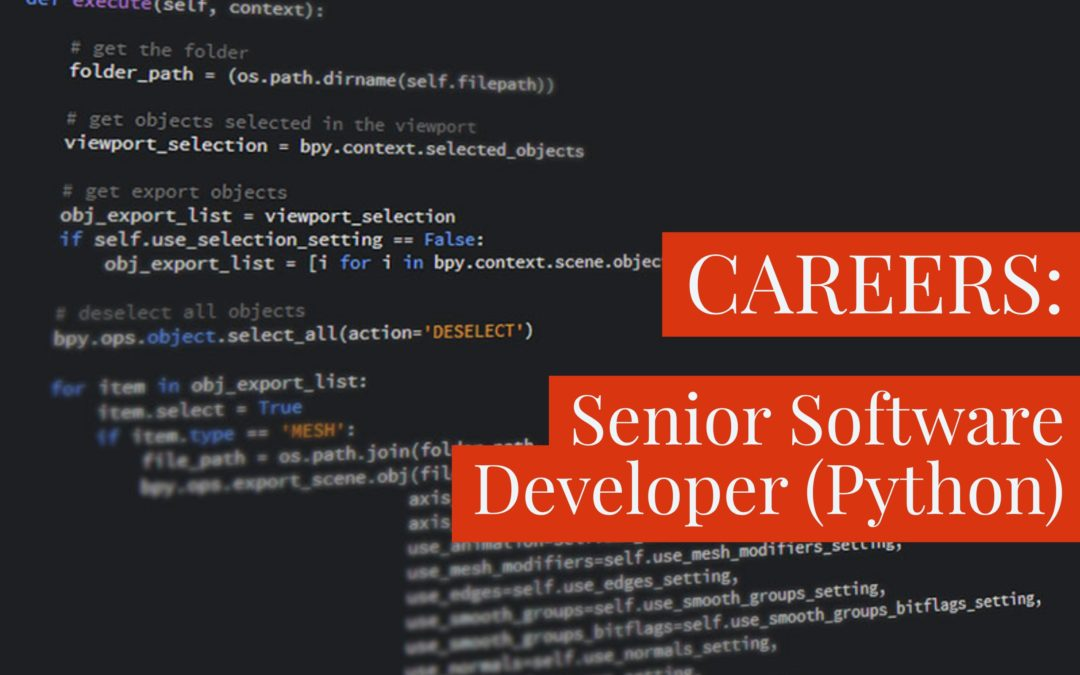 [CLOSED] Senior Software Developer (Python) – Nairobi, Kenya